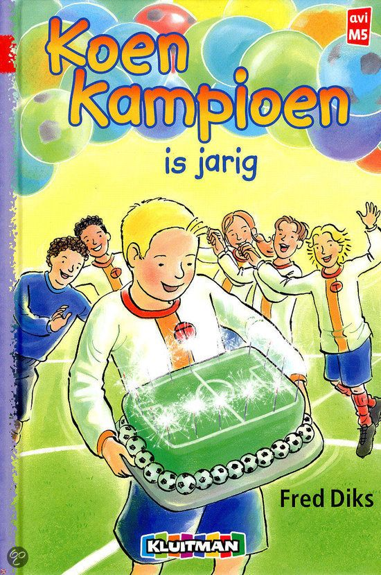 Koen Kampioen is jarig. Kerntitel voor kinderboekenweek 2013 over sport en spel. Klik op het boek om het begin van het verhaal te lezen.