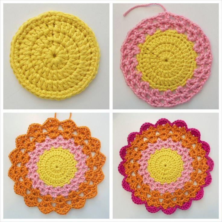 Crochet Patterns For Mandala Yarn : 25+ Best Ideas about Crochet Mandala Pattern on Pinterest ...