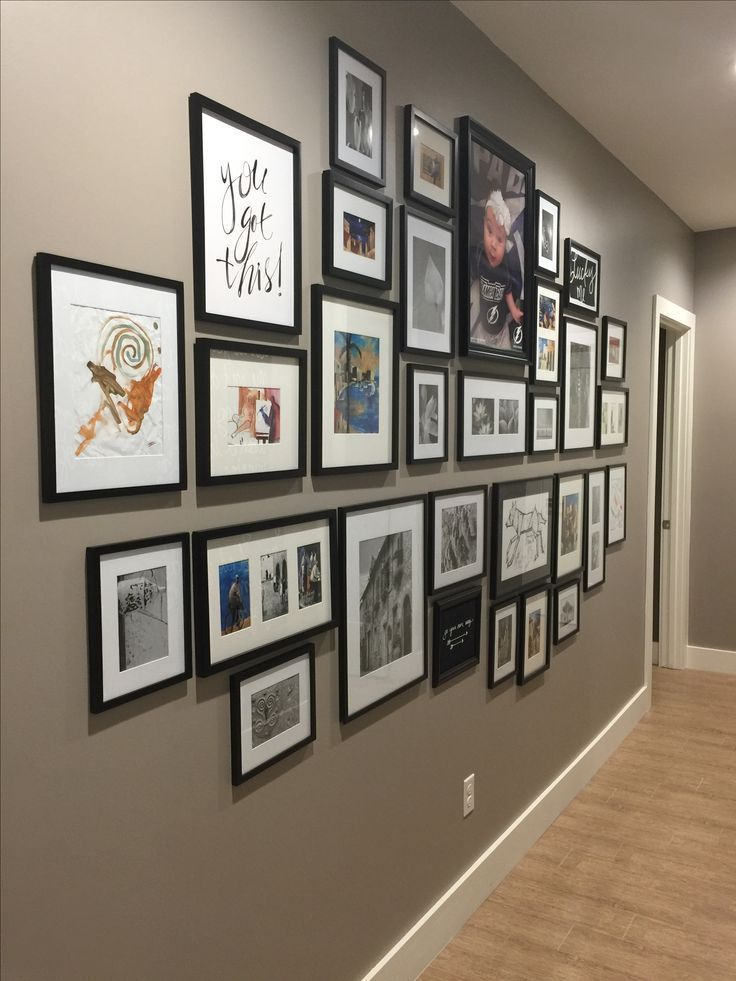 The top part of this gallery wall above my family room couch! – #abovecouch #cou