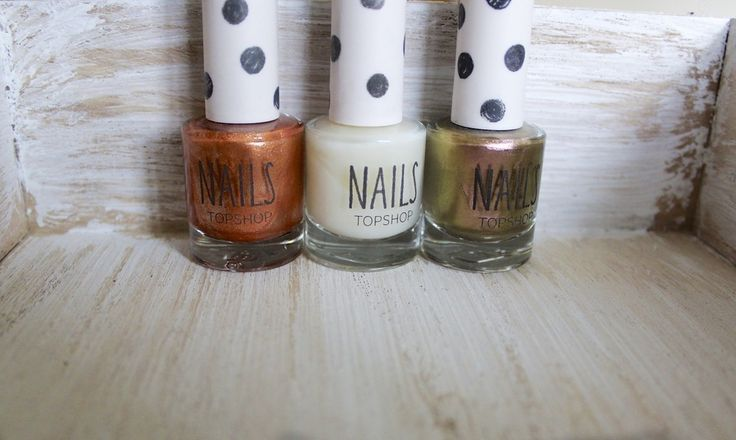 Set of three nail polishes from Topshop. Bronze,copper and cream. Brand new. Retail value £18.00. #beauty #fashion #style #shop www.dressmeperfect.com