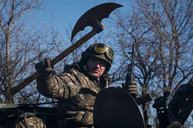 A member of the Ukrainian armed forces - GLEB GARANICH/Newscom/Reuters