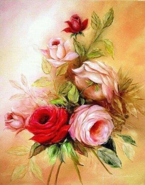 Pin Van Lidy Van Dijk Op Roses Rozen Bloemen Vintage Kaarten Wenskaarten