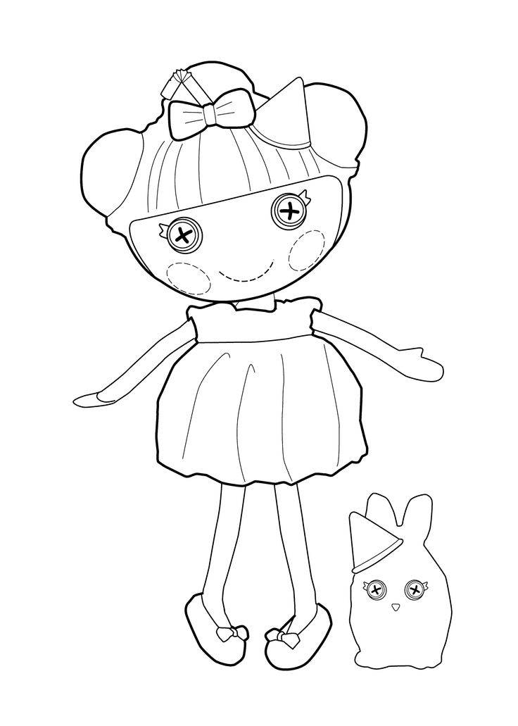 17 best images about coloring pages for girls on pinterest for Lalaloopsy littles coloring pages