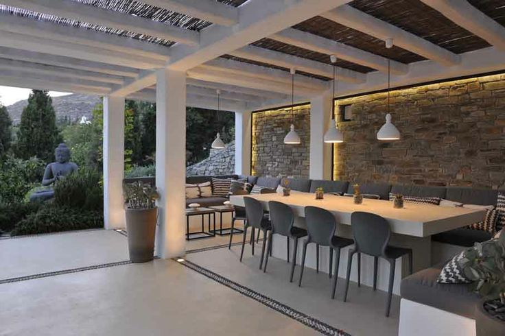 our Musa chairs in a gorgeous vacation house in Paros, Cyclades http://www.oikos.gr/english/chair-musa.html