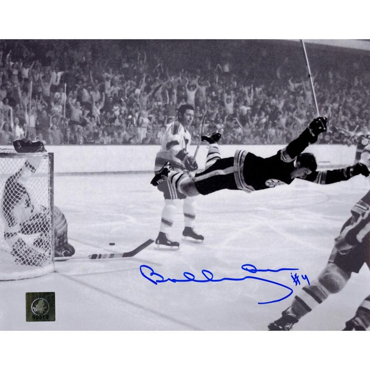 Bobby Orr Boston Bruins Signed Stanley Cup Flying Goal 8x10 Photo: GNR COA