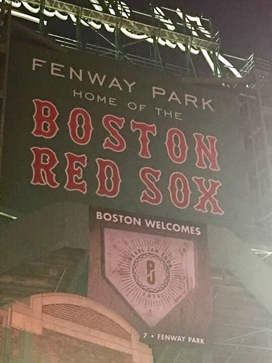 Pearl Jam - Fenway Park, Boston 2016