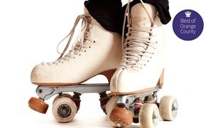 Groupon - Roller-Skating Plus Skate Rental for Two, Four, or Six at Fountain Valley Skating (Up to 48% Off) in Fountain Valley. Groupon deal price: $11