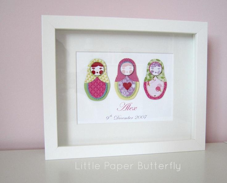 Babushka Dolls by Little Paper Butterfly www.littlepaperbutterfly.com.au