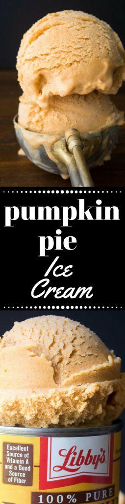 Pumpkin Pie Ice Cream is the perfect fall, Thanksgiving, and Christmas dessert! ~ theviewfromgreatisland.com #falldessert #dessert #homemadeicecream #holidaydessert #Thanksgiving #Thanksgivingdessert #easyicecream #bestpumpkinicecream