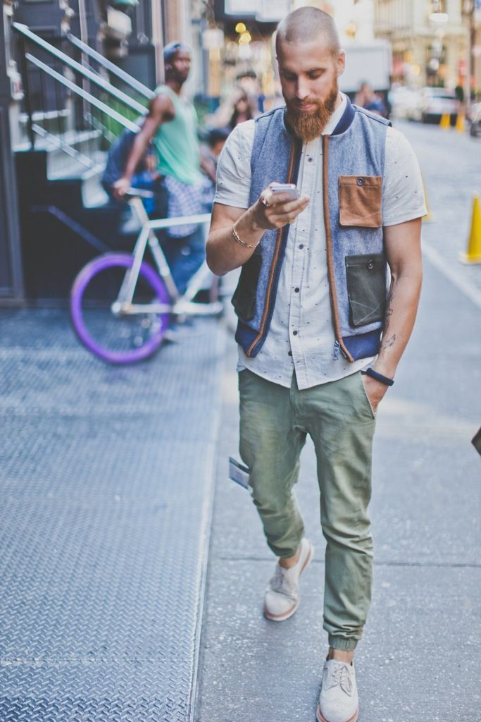 Love, love, love the patchwork vest! Follow me for more mens style inspiration