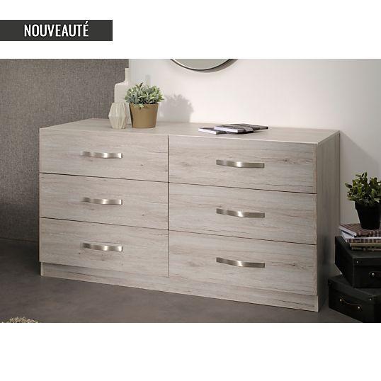 Commode Camif, achat Commode 6 tiroirs Pépita Camif pas cher prix promo Camif 259.00 €