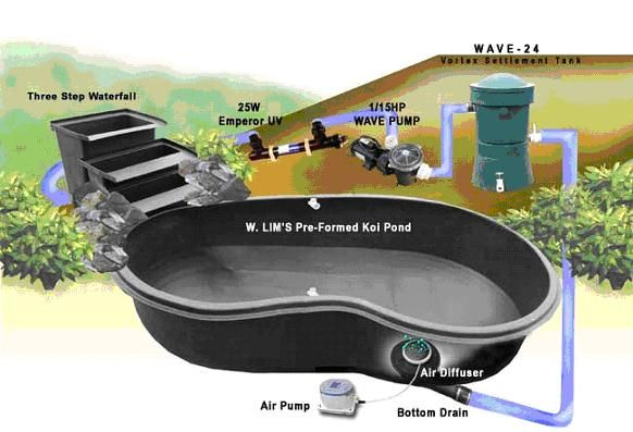 Preformed pond kit pond diy pinterest pond kits for Rigid pond liner