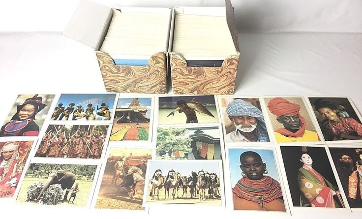 ~1500 EDITO Collectors Cards Huge Lot People Places World Travel Cultures French