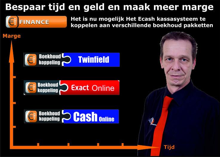 Horeca kassasysteem koppelingen met diverse boekhoud pakketten zoals : #kassasystemen #horeca #twinfield #cash online #Exact online