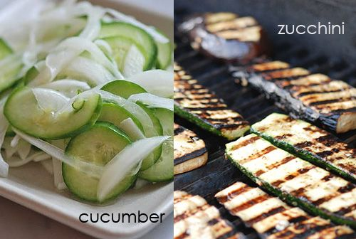 What's the difference between a cucumber and a zucchini?