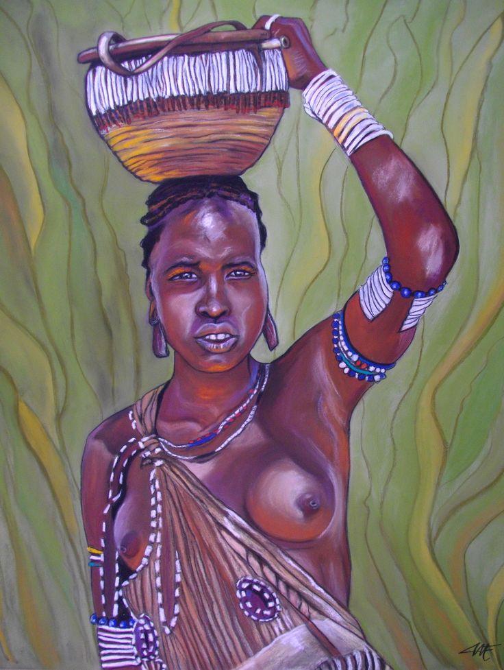 ABEBA, le courage Pastel sec sur papier abrasif 50 x 70 cm http://www.artmajeur.com/catherinewernette/