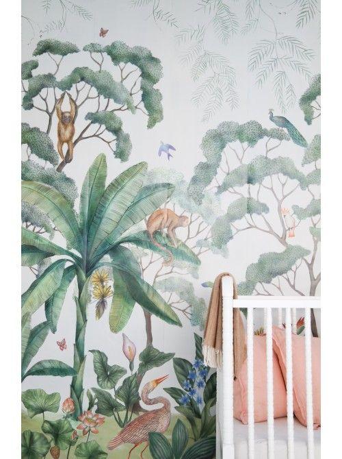 Jungle #behang #Jungle-wallpaper-mural | Luluandgeorgia
