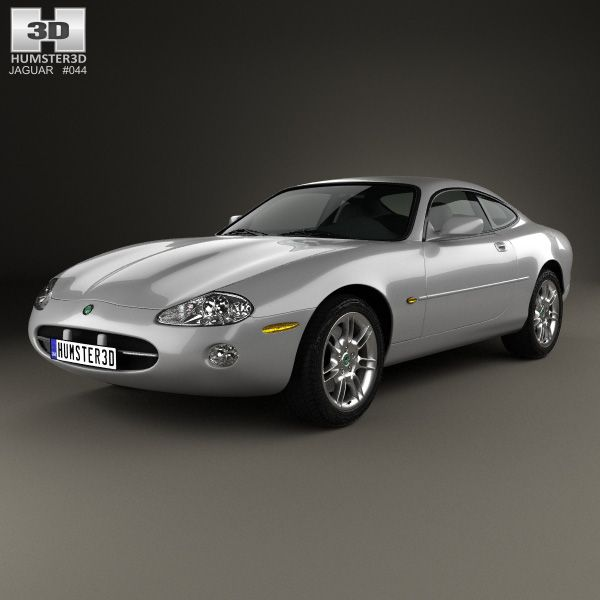 Jaguar XK 8 coupe 1996 3d model from Humster3D.com