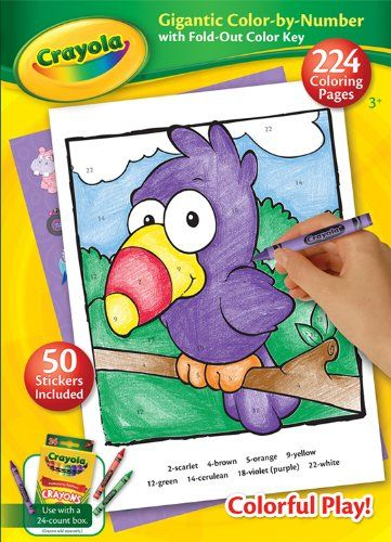 Crayola Gigantic Color By Number ** Continue to the product at the image link. Note:It is Affiliate Link to Amazon. #comment4comment