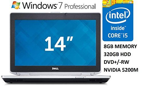 Dell Latitude E6430 14 Business Laptop PC Intel Core i5 Processor 8GB DDR3 RAM 320GB HDD DVD/-RW Nvidia Graphics Windows 7 Professional (Certified Refurbished)
