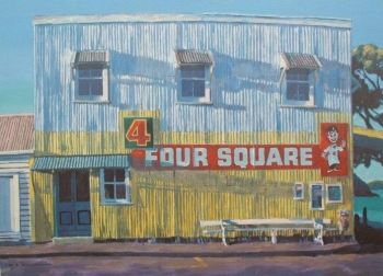 Four Square Store at Sunrise by Bill MacCormick