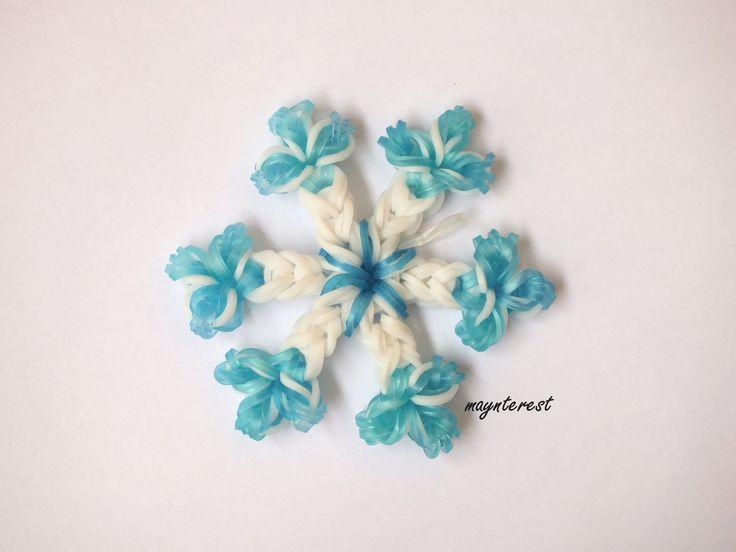 Copo de nieve de gomitas Navidad SIN TELAR | Snowflake Christmas charm N...