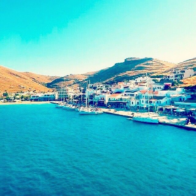 Stunning port of Kea ( Tzia ) island (Κέα - Τζιά) ☀️. Gorgeous picture like postcard with the beautiful sailing boats