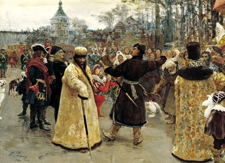Ilya Repin - Arrival of the kings of John and Peter. 200 Russian painters • download painting • Gallerix.ru
