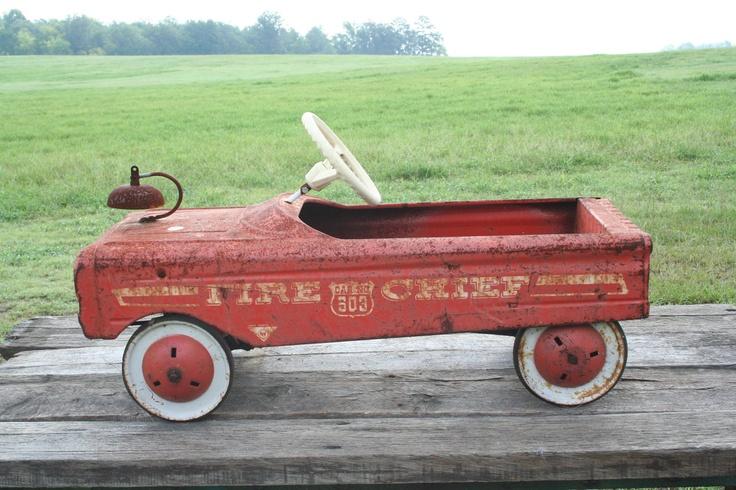 Vintage Antique Pedal Car Amf Fire Chief Antique Pedal