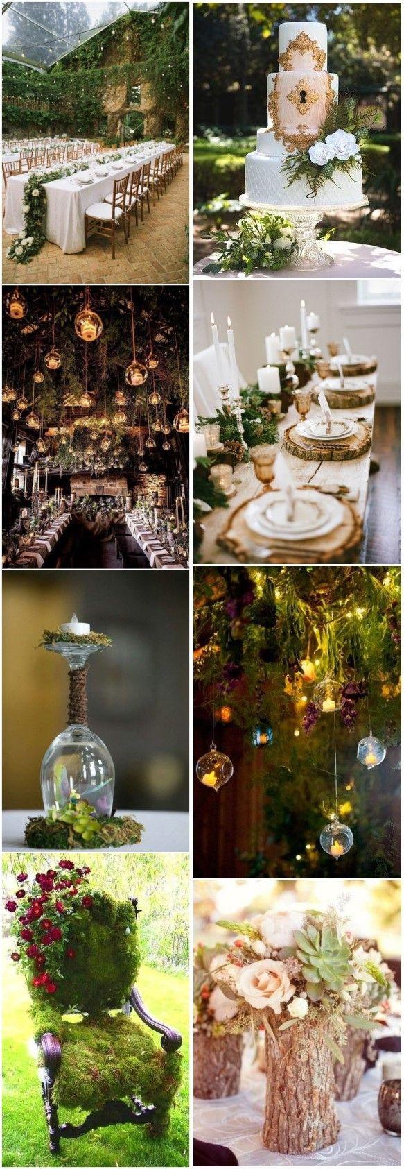 20+ Enchanted Forest Wedding Themed Ideas #weddings