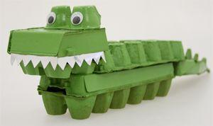 Egg Carton Crocodile