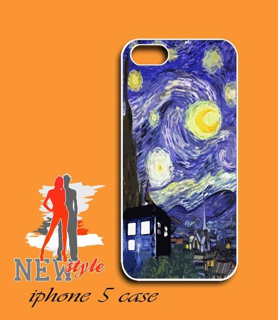 iphone 5 case  Van Gogh tardis Starry Night by NewStyleDesign, $16.00