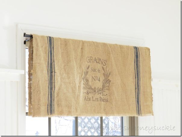 Feed sack curtains