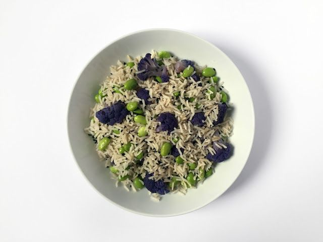 Purple Cauliflower and Edamame Rice // Riso con cavolfiore viola ed edamame