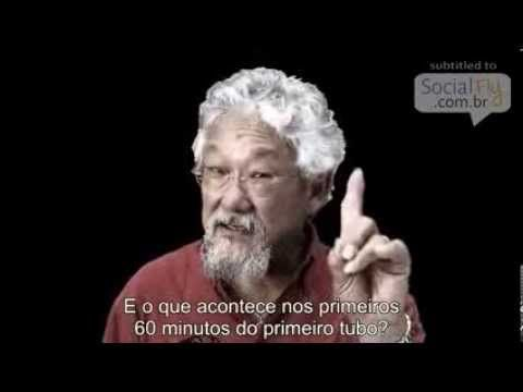 David Suzuki speaks about overpopulation and how growth, is ultimately suicidal. - Analogia Sobre Abuso dos Recursos