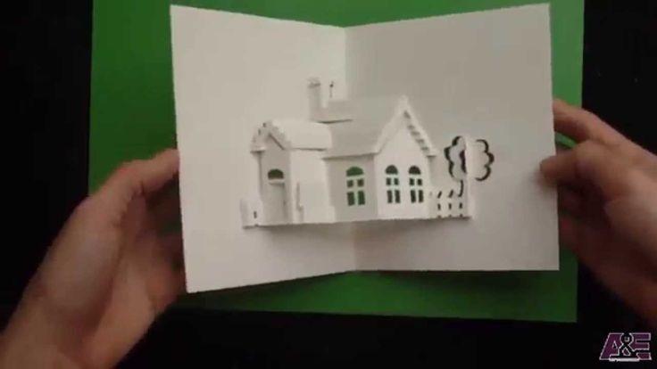 Праздничный, сделать дом в открытке