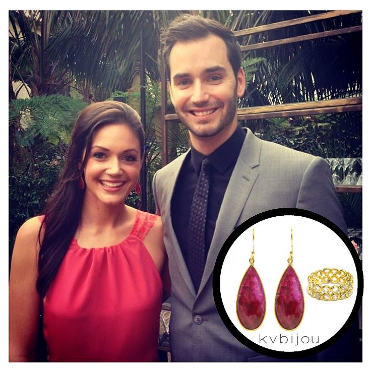 Desiree Hartsock wearing KVBijou to Sean and Catherine's wedding #TheBachelorWedding #AsSeenOnTV #kvbijou