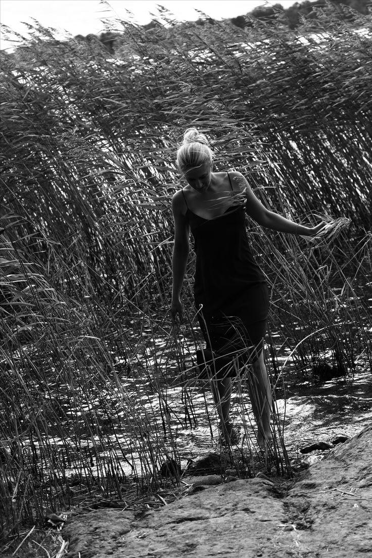The Annika silk slip.  #louinlove #youreverydaysilk #fashionart #blackandwhite