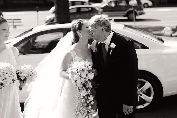 Bride and father of bride church.