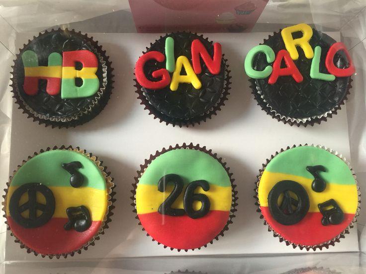 Cupcakes estilo reggae