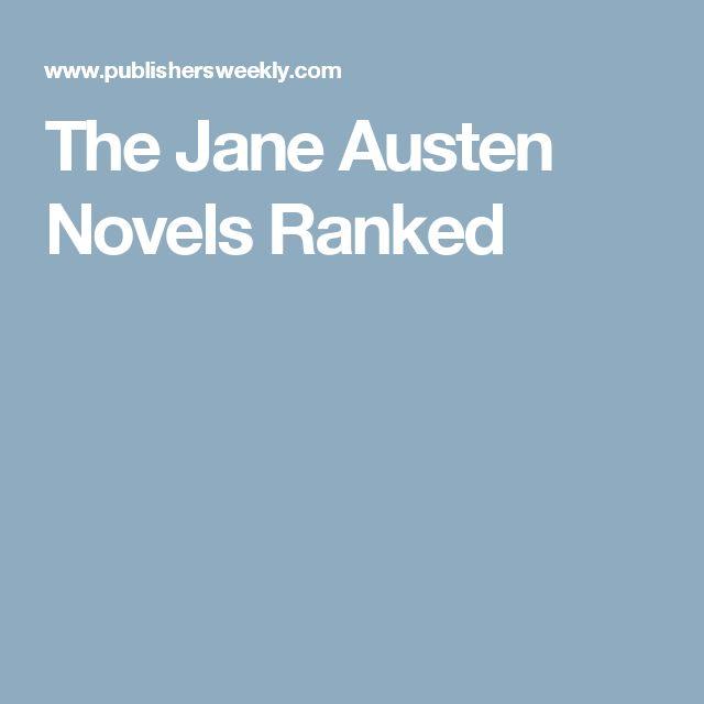 The Jane Austen Novels Ranked