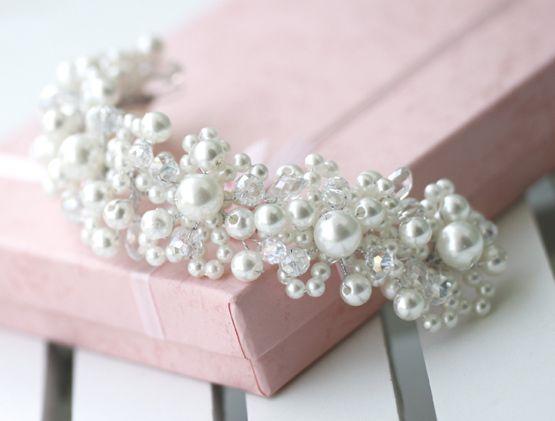 perles de cristal Édition allonger la mariée accessoire de cheveux de mariage mariage 1930 accessoire de cheveux