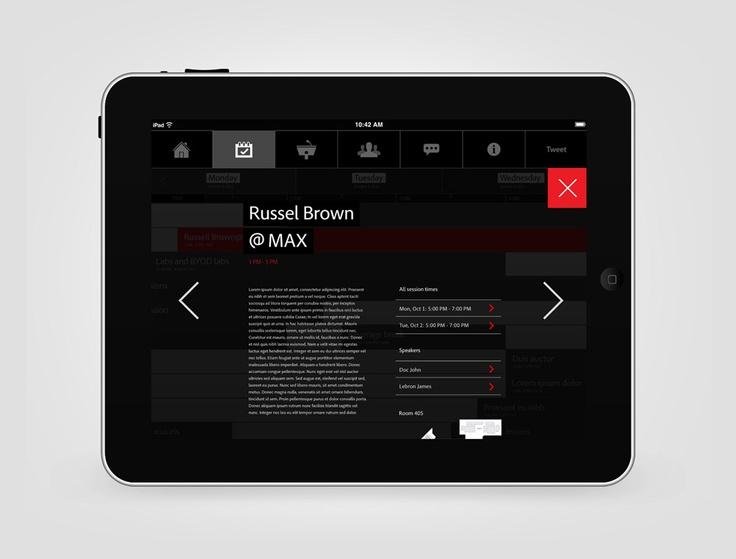 Adobe Max iPhone & iPad app (concept) | Designer: SuperBruut