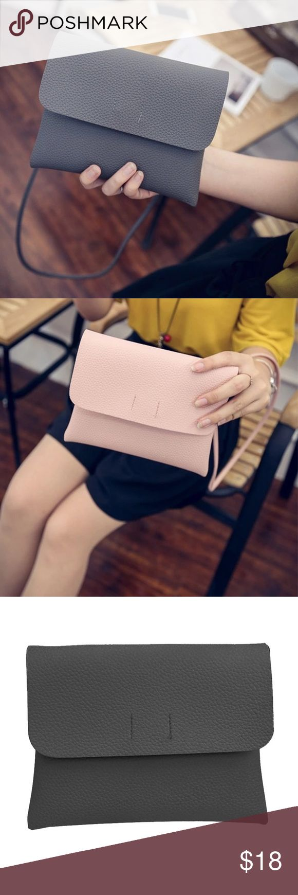 Cross Body Envelope Fold Over Purse COMING SOON Available in Black, Blush, and Grey. Like this listing to be notified as soon as this listing becomes available Bags Crossbody Bags