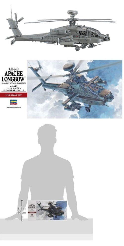 Helicopters 158748: Hasegawa 1 48 Ah-64D Apache Longbow -> BUY IT NOW ONLY: $42.79 on eBay!