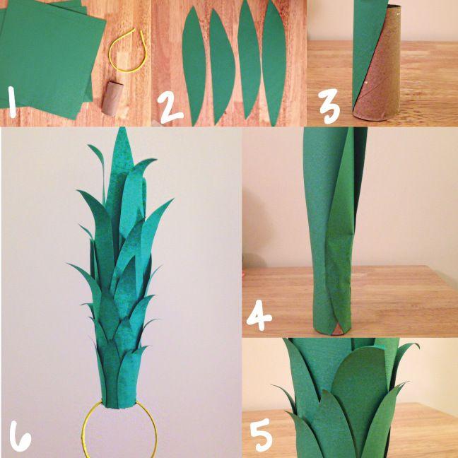 DIY pineapple headband for halloween