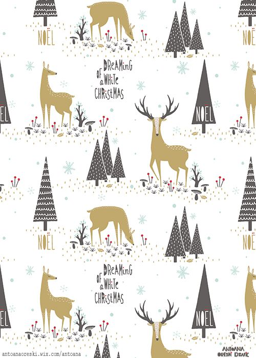 Antoana Oreski©2014 My entry for this month's Tigerprint Competition 'Xmas pattern' :)