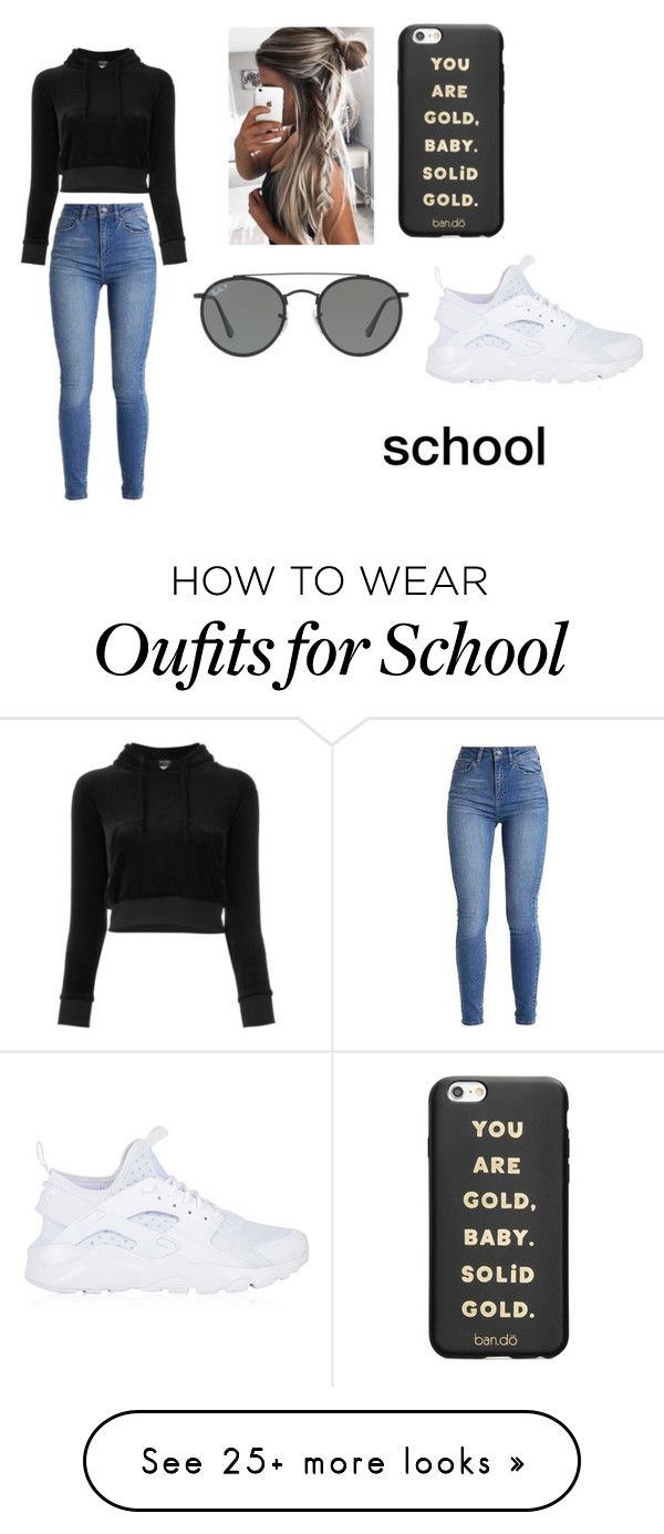 """school day"" by straighthairgrace on Polyvore featuring Vetements, Ray-Ban, ban.do and NIKE"