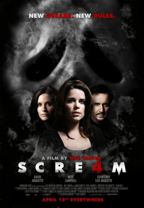 Scream 4 movie poster! <3 Love this franchise, the fourth does a pretty good job of living up to some rather large expectations.