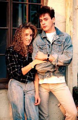 Robert Downey Jr. and Sarah Jessica Parker, 1985